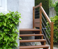Création D'un Escalier Exterieur En Moabi