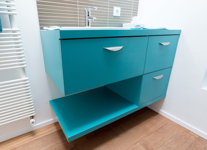 Cr ation de meubles de salle de bain david ruel sarl Creation meuble salle de bain